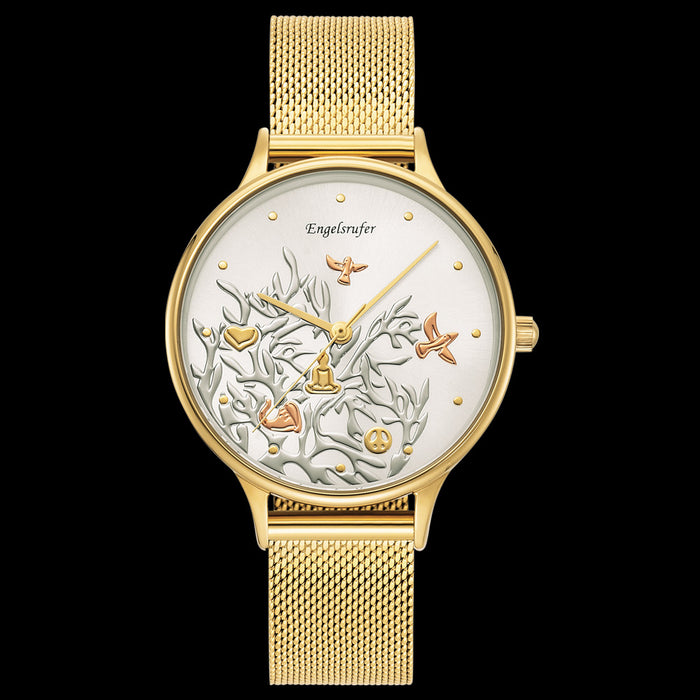 ENGELSRUFER TREE OF LIFE GOLD MESH WATCH