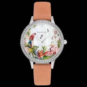 ENGELSRUFER PARADISE SILVER CZ SURROUND INTERCHANGEABLE WATCH