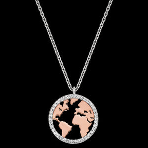 ENGELSRUFER SILVER ROSE GOLD WORLD NECKLACE