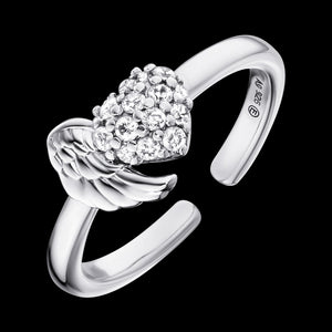 ENGELSRUFER SILVER HEARTWING CZ RING
