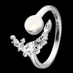 ENGELSRUFER SILVER MOONLIGHT MOONSTONE RING
