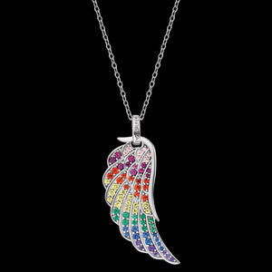 ENGELSRUFER SILVER RAINBOW WING CZ NECKLACE