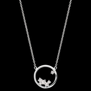 ENGELSRUFER SILVER COSMO CIRCLE CZ NECKLACE