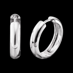 ENGELSRUFER SILVER NINA 21MM HOOP EARRINGS