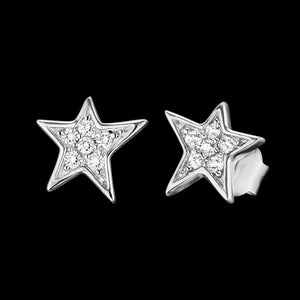 ENGELSRUFER SILVER STAR CZ EARRINGS