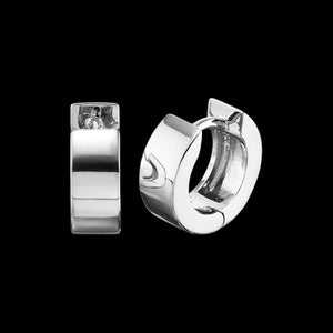 ENGELSRUFER SILVER LENA 13MM HUGGIE EARRINGS