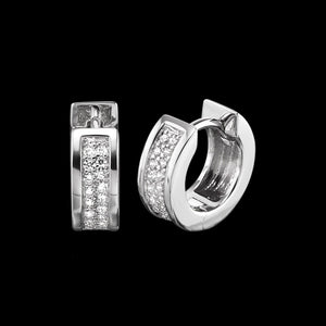 ENGELSRUFER SILVER LENA 13MM HUGGIE CZ EARRINGSENGELSRUFER SILVER LENA 13MM HUGGIE CZ EARRINGS
