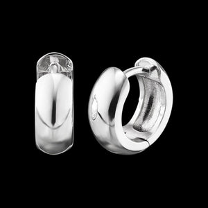 ENGELSRUFER SILVER ANNA 13MM HUGGIE EARRINGS