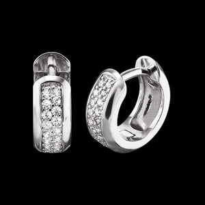 ENGELSRUFER SILVER ANNA 13MM HUGGIE CZ EARRINGS
