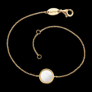 ENGELSRUFER GOLD WHITE MOTHER OF PEARL BRACELET