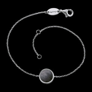 ENGELSRUFER SILVER DARK GREY MOTHER OF PEARL BRACELET