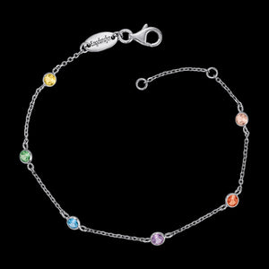 ENGELSRUFER SILVER RAINBOW CZ MOONLIGHT BRACELET