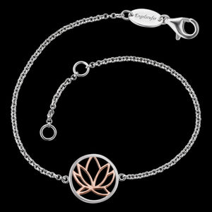 ENGELSRUFER SILVER ROSE GOLD LOTUS BRACELET
