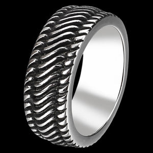 MAXIMAN DIESEL 8MM MEN'S STAINLESS STEEL RING