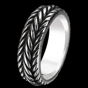 MAXIMAN TRACKER 7MM MEN'S STAINLESS STEEL RING
