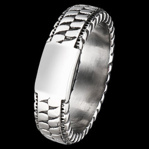 MAXIMAN ADRENALIN 6MM MEN'S STAINLESS STEEL RING