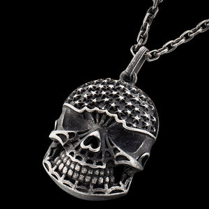 SAVE BRAVE MEN'S DANNY STARS SKULL NECKLACE