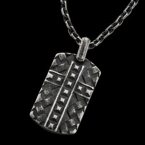 SAVE BRAVE MEN'S KEVIN DOGTAG CROSS NECKLACE