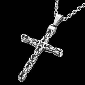 SAVE BRAVE MEN'S DAN KNOT CROSS NECKLACE