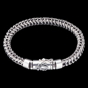 SAVE BRAVE MEN'S STERLING SILVER DRAGON SWORD BRACELET