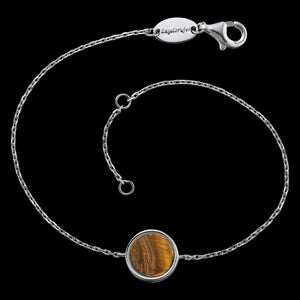 ENGELSRUFER SILVER TIGER EYE POWER STONE BRACELET