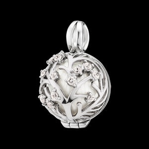 ENGELSRUFER SILVER BLOOM CZ SMALL SOUNDBALL PENDANT