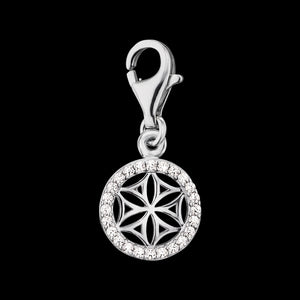 ENGELSRUFER SILVER FLOWER OF LIFE CZ CHARM