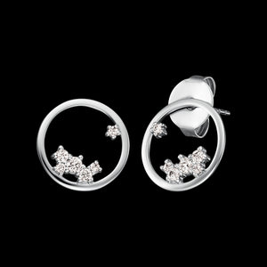 ENGELSRUFER SILVER COSMO CIRCLE CZ EARRINGS