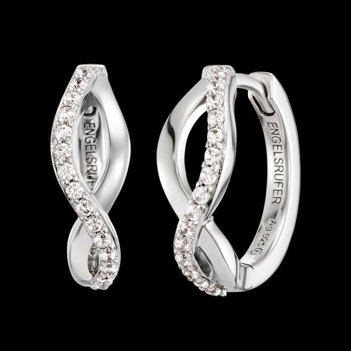 ENGELSRUFER SILVER PARADISE CZ HOOP EARRINGS