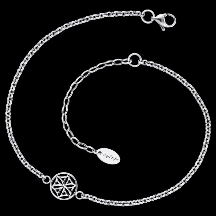 ENGELSRUFER STEEL FLOWER OF LIFE ANKLET