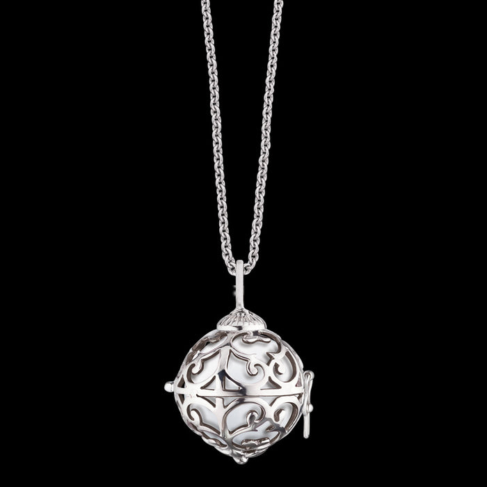 ENGELSRUFER SILVER WHITE SOUNDBALL EXTRA SMALL NECKLACE