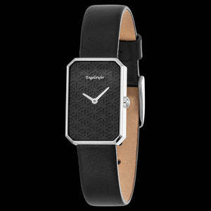 ENGELSRUFER BLACK FLOWER OF LIFE WATCH - ANGLE VIEW