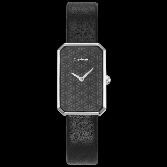 ENGELSRUFER BLACK FLOWER OF LIFE WATCH