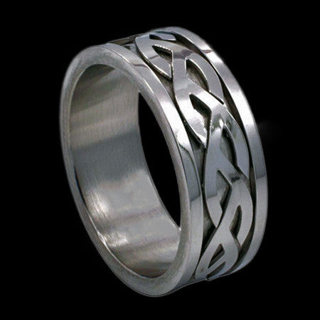 CELTIC SPINNER BAND STAINLESS STEEL RING