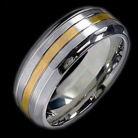 TITANIUM THREE BANDS RING