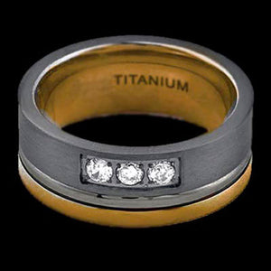 TITANIUM TWO BAND RING - 2
