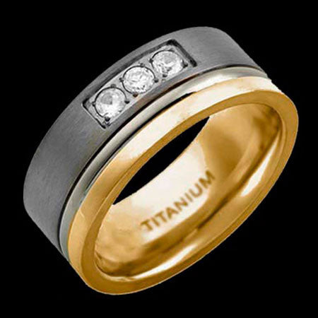 TITANIUM TWO BAND RING