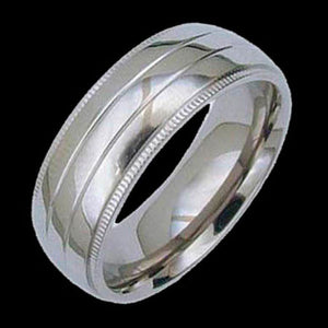 TITANIUM TRIPLE BAND RING