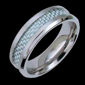 TITANIUM CARBON FIBRE RING