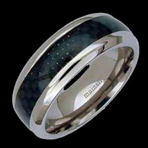 TITANIUM BLACK CARBON FIBRE RING