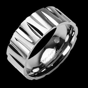 TITANIUM NOTCHES RING