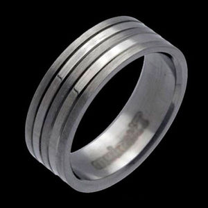 TITANIUM FIVE BANDS RING