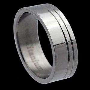 TITANIUM MEN'S DOUBLE BAND RING