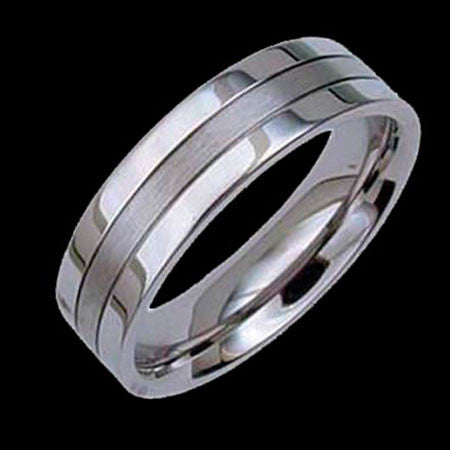 TITANIUM TRI-BAND RING