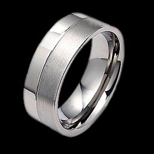 TITANIUM PARALLEL DUAL BAND RING