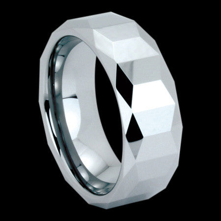 TUNGSTEN CARBIDE SQUARE CUT RING