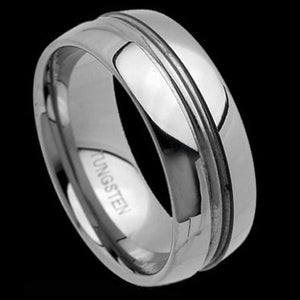 TUNGSTEN CARBIDE DUAL BAND POLISHED RING