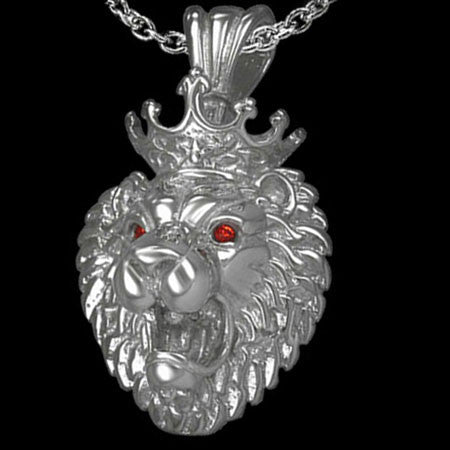 STAINLESS STEEL LION KING NECKLACE