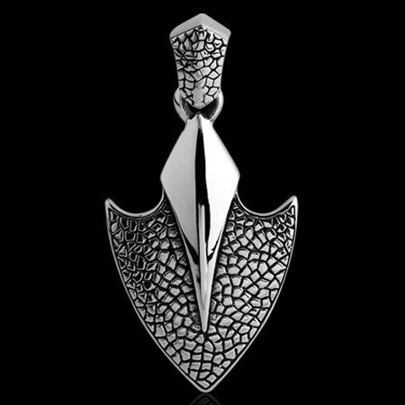 KOOLKATANA STAINLESS STEEL KNIGHT'S SHIELD NECKLACE