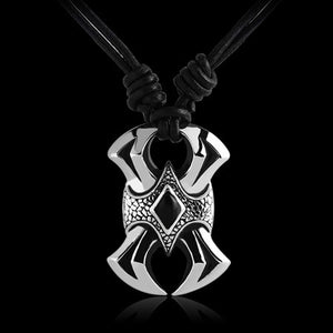 KOOLKATANA STAINLESS STEEL ENTWINED BLADES NECKLACE - 1